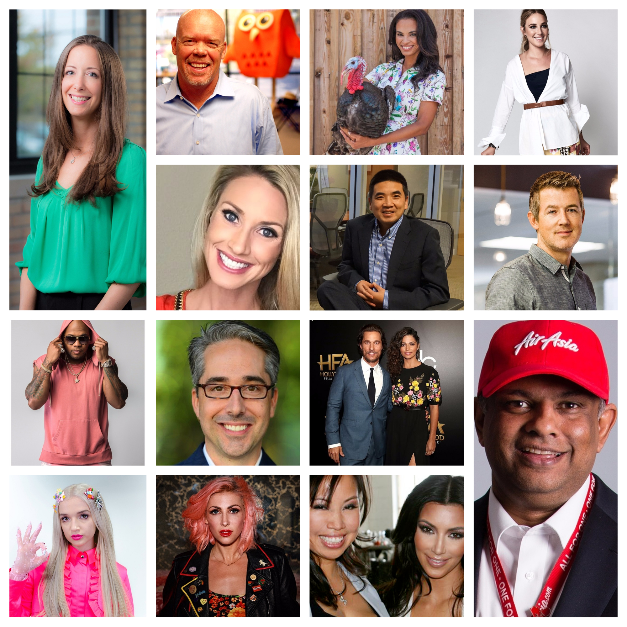 CEO's and Celebrities previously featured by TLI